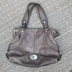 Fossil Distressed Leather Shoulder Bag